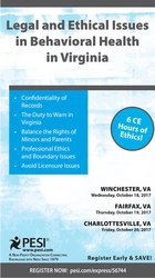 Legal and Ethical Issues in Behavioral Health in Virginia