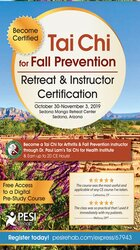 Tai Chi for Fall Prevention Retreat & Instructor Certification