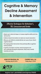 Cognitive & Memory Decline Assessment & Intervention: Effective Techniques for Alzheimer's, TBI, Concussion and Stroke