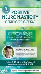 4-Day: Positive Neuroplasticity Certificate Course with Rick Hanson, Ph.D.