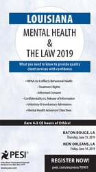 Louisiana Mental Health & The Law - 2019