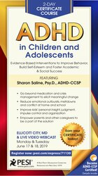 2-Day Certificate Course: ADHD in Children and Adolescents: Evidence-Based Interventions to Improve Behavior, Build Self-Esteem and Foster Academic & Social Success