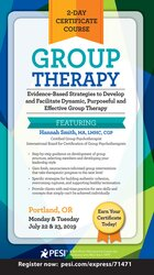 2-Day Certificate Course Group Therapy: Evidence-Based Strategies to Develop and Facilitate Dynamic, Purposeful and Effective Group Therapy