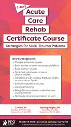 2-Day: Acute Care Rehab Certificate Course: Strategies for Multi-Trauma Patients