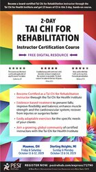 2-Day: Tai Chi for Rehabilitation: Instructor Certification Course