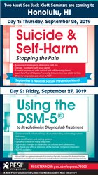 2-Day: Suicide & Self-Harm: Stopping the Pain AND Using the DSM-5® to Revolutionize Diagnosis & Treatment