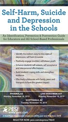 Self-Harm, Suicide and Depression in the Schools: An Identification, Prevention & Postvention Guide for Educators and All School-Based Professionals