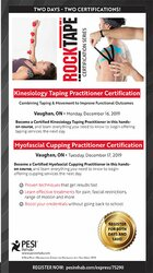 2-DAY: Kinesiology Taping Practitioner Certificate: Combining Taping & Movement to Improve Functional Outcomes AND Myofascial Cupping Practitioner Certification