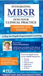 3 Day: Integrating MBSR into Your Clinical Practice Certificate Course