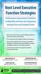 Next Level Executive Function Strategies: Performance Improvement Solutions to Help Kids and Teens Get Organized, Manage Time and Complete Tasks