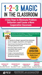 1-2-3 Magic in the Classroom: 3 Easy Steps to Eliminate Problem Behaviors and Create a More Cooperative Classroom