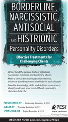 Borderline, Narcissistic, Antisocial and Histrionic Personality Disorders: Effective Treatments for Challenging Clients