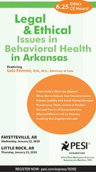 Legal and Ethical Issues in Behavioral Health in Arkansas