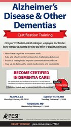 Alzheimer's Disease & Other Dementias Certification Training