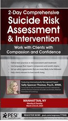 2-Day Comprehensive Suicide Risk Assessment & Intervention: Work with Clients with Compassion and Confidence