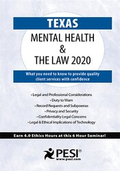 Texas Mental Health & The Law - 2020