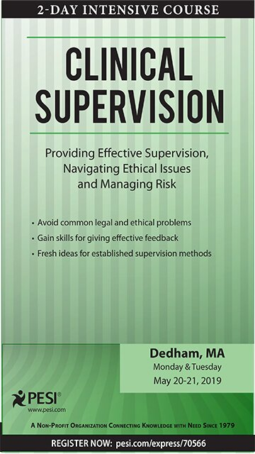 2 Day Intensive Course: Clinical Supervision: Providing Effective Supervision, Navigating Ethical Issues and Managing Risk