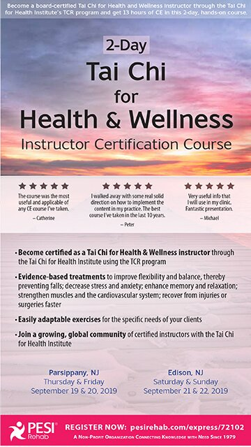 2-Day: Tai Chi for Health and Wellness: Instructor Certification Course