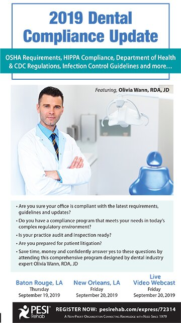 2019 Dental Compliance Update