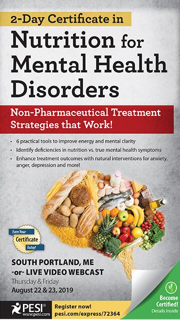 2-Day Certificate in Nutrition for Mental Health Disorders: Non-Pharmaceutical Treatment Strategies that Work!