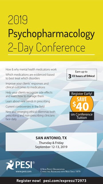 2019 Psychopharmacology 2-Day Conference