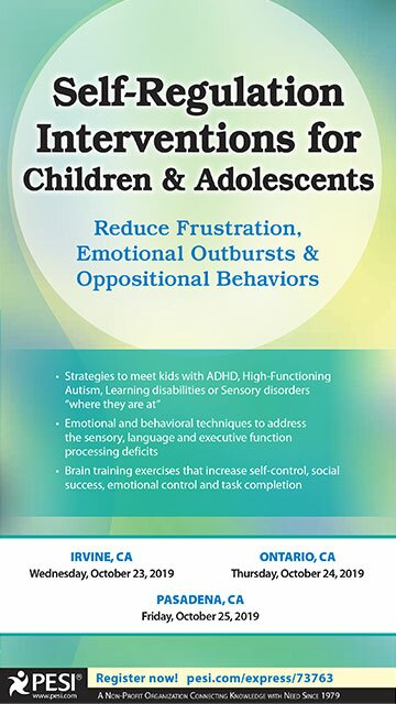 Self-Regulation Interventions for Children & Adolescents: Reduce Frustration, Emotional Outbursts & Oppositional Behaviors