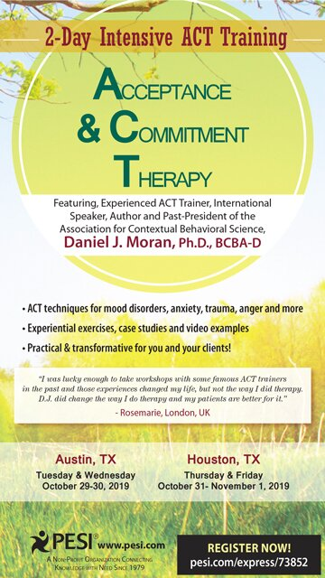 Acceptance & Commitment Therapy: 2-Day Intensive ACT Training