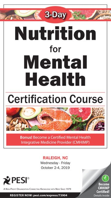 3-Day: Nutrition for Mental Health Certification Course