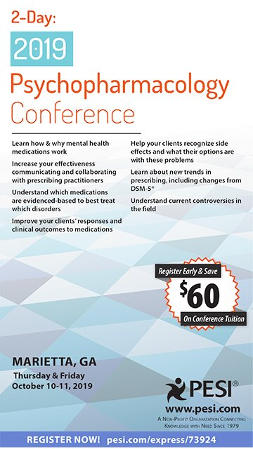 2-Day: 2019 Psychopharmacology Conference