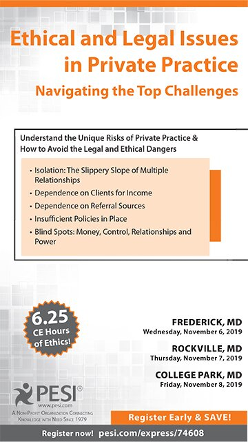 Ethical and Legal Issues in Private Practice: Navigating the Top Challenges