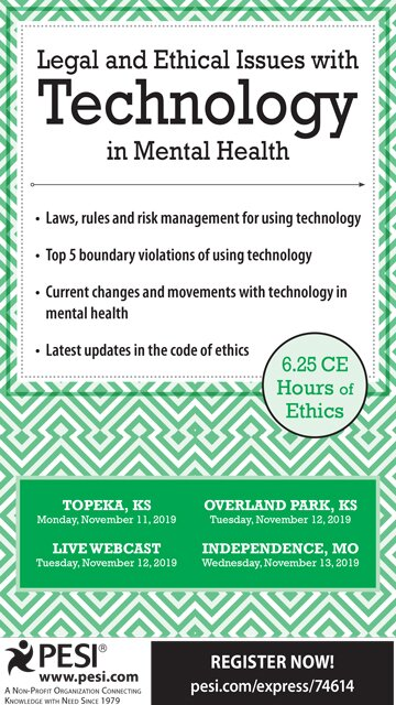 Legal and Ethical Issues with Technology in Mental Health
