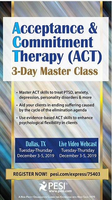 Acceptance & Commitment Therapy (ACT): 3-Day Master Class