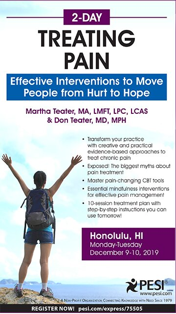 2-Day: Treating Pain: Effective Interventions to Move People from Hurt to Hope