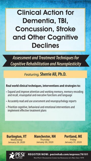 Clinical Action for Dementia, TBI, Concussion, Stroke and Other Cognitive Declines: Assessment and Treatment Techniques for Cognitive Rehabilitation and Neuroplasticity