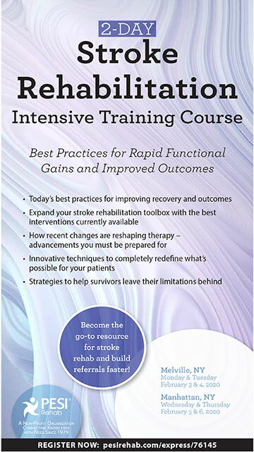 2-Day: Stroke Rehabilitation Intensive Training Course: Best Practices for Rapid Functional Gains and Improved Outcomes