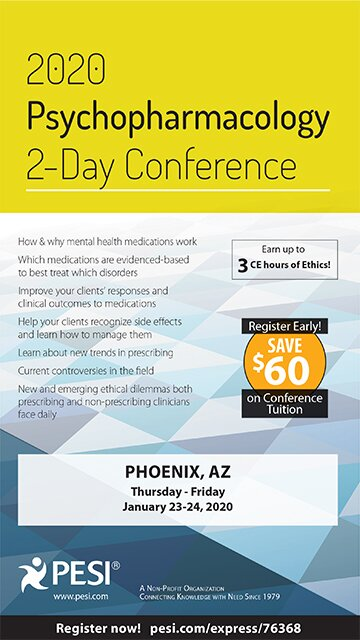 2020 Psychopharmacology 2-Day Conference