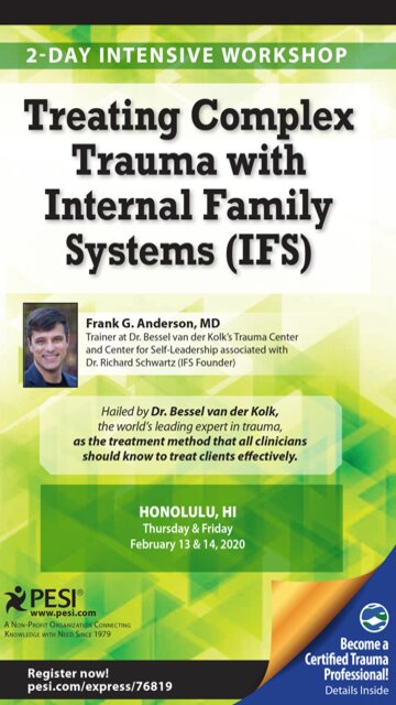 2-Day Intensive Workshop: Treating Complex Trauma with Internal Family Systems (IFS)