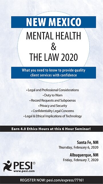 New Mexico Mental Health & The Law - 2020