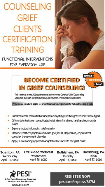 Counseling Grief Clients Certification Training: Functional Interventions for Everyday Use