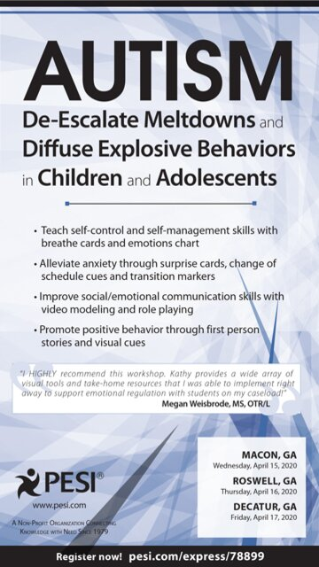 Autism: De-Escalate Meltdowns and Diffuse Explosive Behaviors in Children and Adolescents