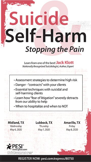 Suicide & Self-Harm: Stopping the Pain