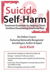 Suicide & Self Harm: Stopping the Pain