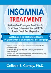 Insomnia Treatment: Evidence-Based Strategies to Enrich Sleep & Boost Clinical Outcomes in Clients with PTSD, Anxiety, Chronic Pain & Depression