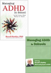 Managing ADHD in Schools with Dr. Russell Barkley Book & DVD Bundle