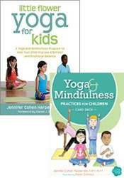 Yoga and Mindfulness Practices for Children Card Deck + Little Flower Yoga for Kids Book