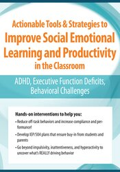 Actionable Tools and Strategies to Improve Social Emotional Learning and Productivity in the Classroom