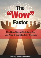 "The ""Wow"" Factor: The New Ways Clinicians Can Use Awe and Gratitude in Therapy"