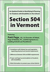 Section 504 in Vermont