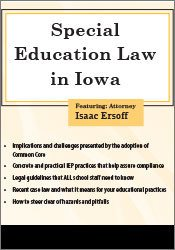 Special Education Law in Iowa