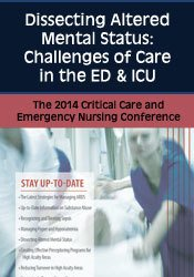 Dissecting Altered Mental Status: Challenges of Care in the ED & ICU